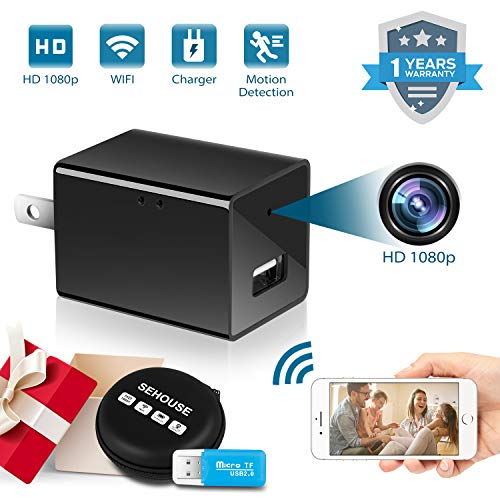 Hidden Camera 1080P HD Motion Detection WiFi Wireless Mini Cam for Home Office Hotel Security as Nanny Cam Video Recorder for iPhone/Android Phone/iPad/PC (Indoor Camera Hidden)