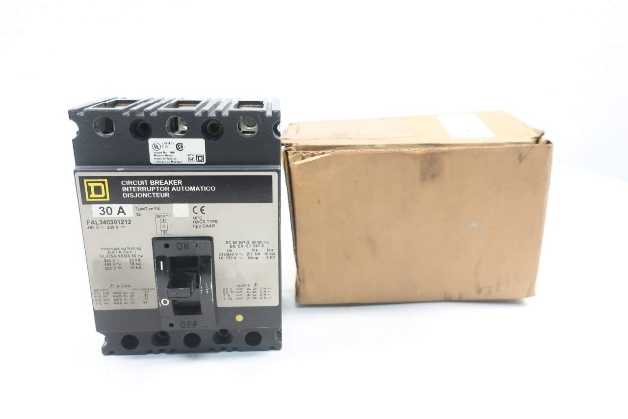 SQUARE D FAL340301212 Molded CASE Circuit Breaker 3P 30A AMP 480V-AC 250V-DC