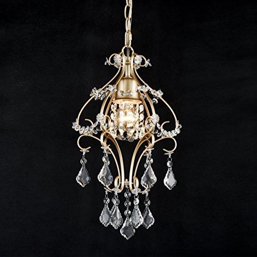 Dazhuan Modern Crystal Chandelier Champagne Gold Pendant Light Dinning Room Ceiling Lighting Fixture (Gold Mini Chandeliers Crystal)
