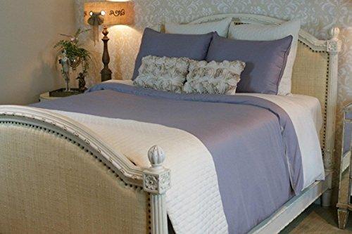 BedVoyage Home Bedroom Decorative Duvet Cover King Platinum / White Reversible by BedVoyage
