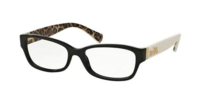 060a0f4808 Coach Women s HC6078 Eyeglasses Black Ivory Wild Beast 52mm at ...