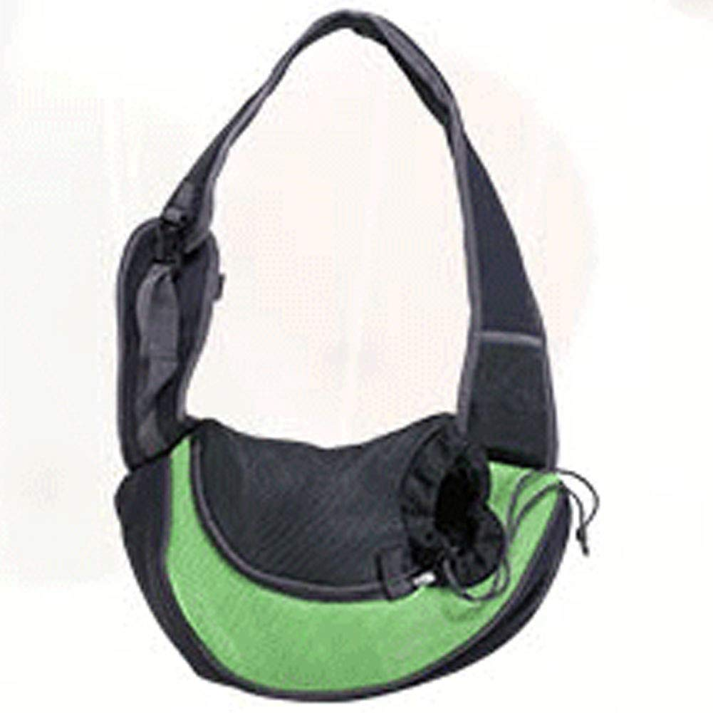 Green L green L HAOJINFENG Dog Backpack Breathable Shoulder Diagonal Diagonal Chest Dog Bag Out Portable Pet Bag Multi-color Optional