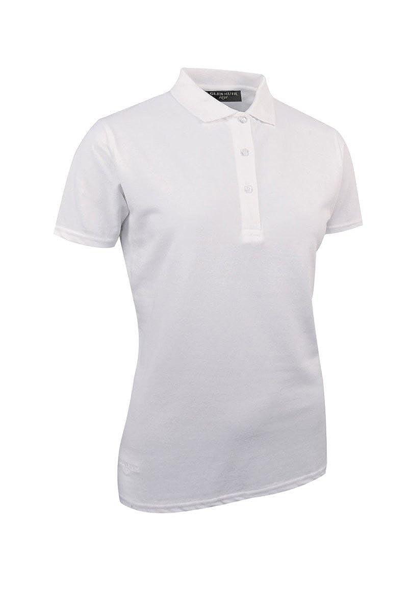 Glenmuir - Polo piqué de algodón para mujer, Mujer, color blanco ...