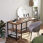 VASAGLE Computer Desk, Writing Desk with 2 Shelves on Left or Right, Work Table for Office Living Room, Steel Frame…