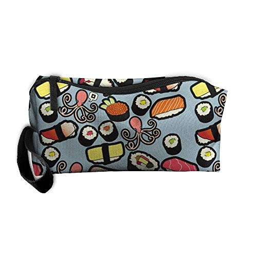 (Cosmetic Bags Brush Pouch Sweet Shrimp Sushi Portable Makeup Bag Zipper Wallet Hangbag)