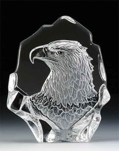 (VG Engraved Lead Crystal - Eagle Head )