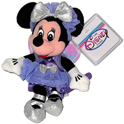 Disney Minnie Sugar Plum Fairy Mini Bean Bag Plush: Toys & Games