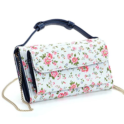 Women's Fashion Clutch Chain Purse Gold Buckle Multifunction Shoulder Bags Cross Body Bag for Ladies