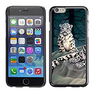 Planetar® ( Moody Tiger ) Apple iPhone 6 / 6S (4.7 inches!!!) Fundas Cover Cubre Hard Case Cover