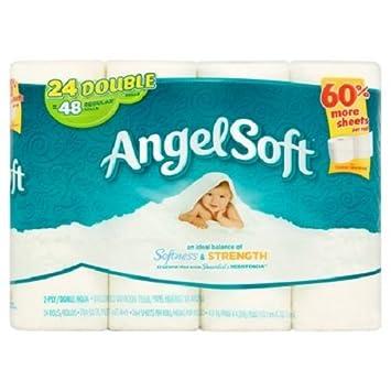 amazon com angel soft toilet paper 24 double rolls 264 sheets