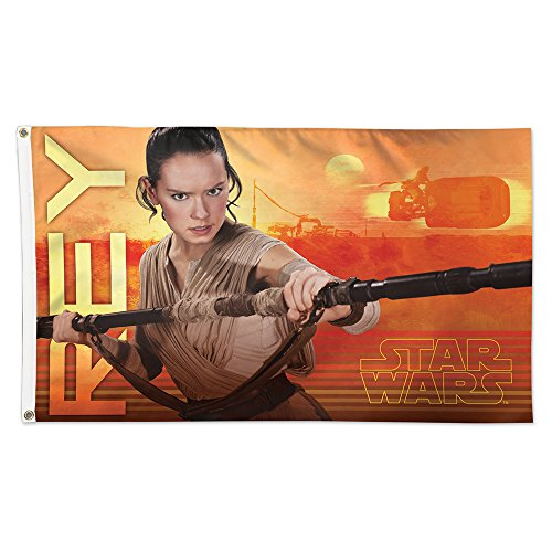 Deluxe Flagpole - WinCraft Star Wars Rey Episode VII Deluxe Flag, Multicolor, 3' x 5'