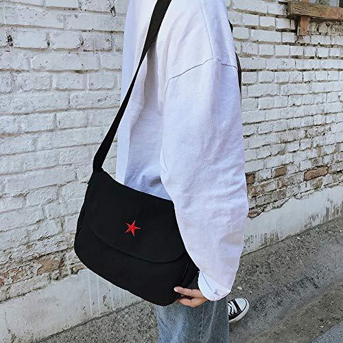 Imprimé Réglable Black Bandoulière Bandoulière Filles Toile Mode Pour Dames Sac Ynnb Pentagramme Simple À black Femmes Loisirs Les nxTqvwwWB