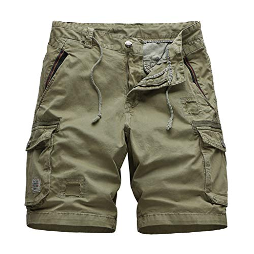 DONTAL Tactical Trousers Men Cool Summer Cotton Short Pants Camo Clothing Cargo Shorts Khaki
