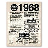 8x10 1968 Birthday Gift // Back in 1968 Newspaper