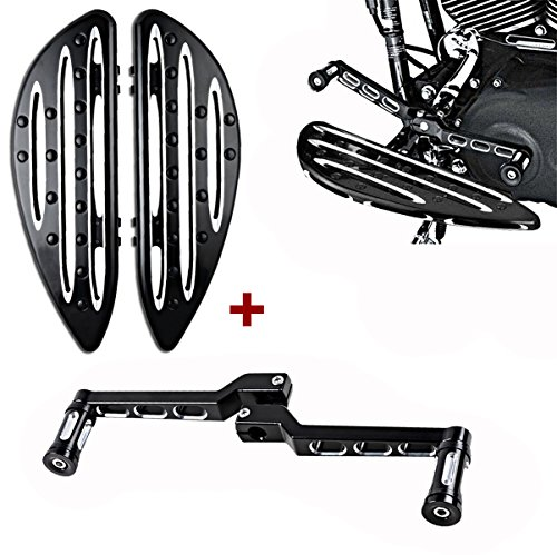 Set Front & Rear Shift Levers w/ Shifter Pegs + Driver Floorboards For Harley Touring Softail FL Dyna FLD Deep Edge Cut - Fl Floorboards