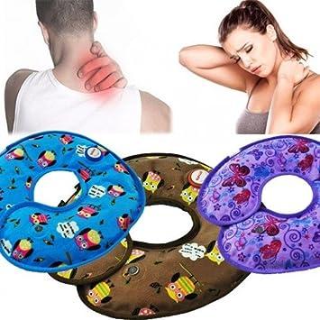 Takestop® Bolsa Agua Caliente Eléctrica Rimedio cervical mal espalda cuello calentador larga duración tela hipoalergénico color aleatorio