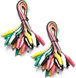 WGGE WG-026 20 Pieces and 5 Colors Test Lead Set & Alligator Clips, 20.5 inches