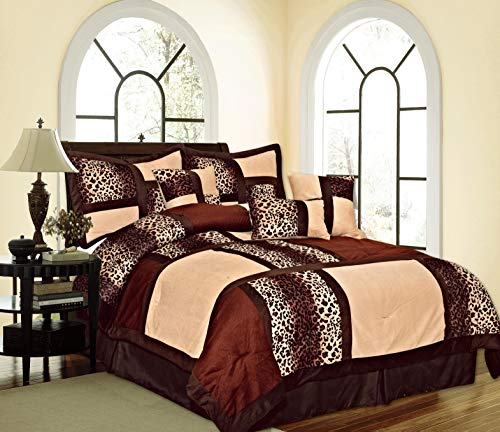 Empire Home Mikasa Collection Luxurious Micro Suede Soft Comforter Set - Limited-Time Sale!! (Brown Safari, Queen Size) ()