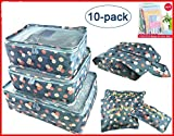 Good concept 10Pcs Waterproof Clothes Storage Bag Packing Cube Travel Luggage Organizer