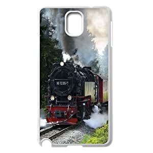 Samsung Galaxy Note 3 Cases Steam Engine Train, Case for Samsung Galaxy Note 3 N9000 - [White] Okaycosama