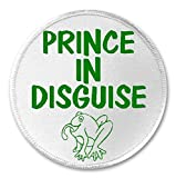 "Prince In Disguise Frog - 3"" Sew / Iron On Patch Cute Princess Toad"