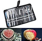 Culinary Carving Tool Set Fruit Vegetable Food Garnishing / Cutting / Slicing Garnish Tools Kit (20 pcs)