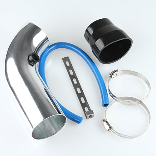 Possbay Universal Car Cold Air Intake Systems Inlet Pipe Intake Tube Silver 75mm Breather: