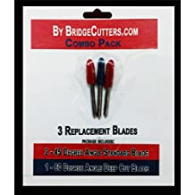 Combo Pack - 3 Replacement Cutting Blades Type for Craft Cutting Machines Cricut Bridge Refine Standard & Deep Cut Blades