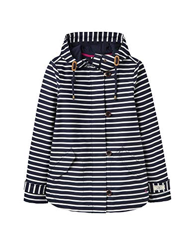 Joules Coast Print Jacket UK 12 Reg Navy Cream Stripe