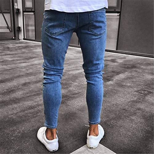 MISSMAOM Pantalones Vaqueros Hombres Rotos Pitillo Originales Slim Fit Skinny Pantalones Casuales Elasticos Agujero Pantalón