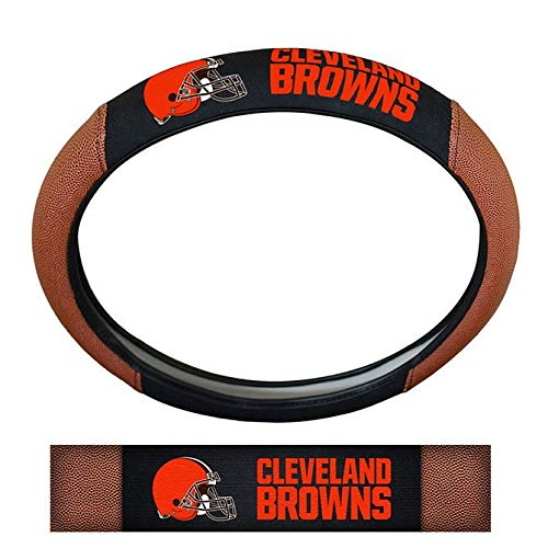 NFL Cleveland Browns Rubber Steering Wheel Cover, 15