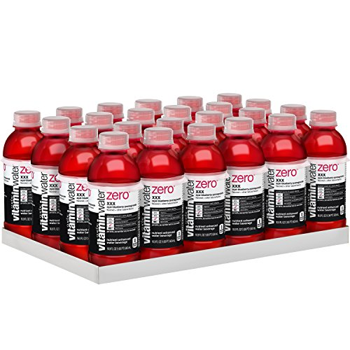 vitaminwater zero xxx, electrolyte enhanced water w/ vitamins, açai-blueberry-pomegranate drinks, 16.9 fl oz, 24 Pack
