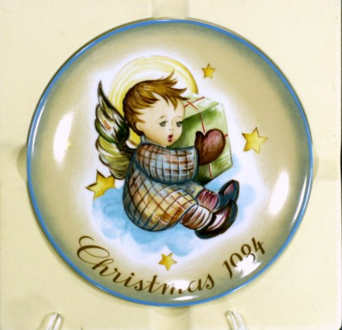 Schmid Hummel Christmas Plate - Schmid A Gift From Heaven Christmas 1984 Limited Edition Collector Plate Inspired by Berta Hummel