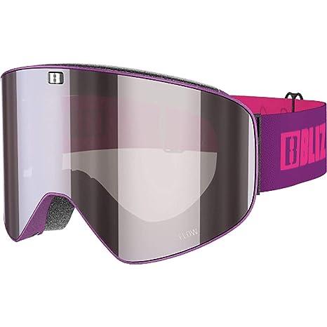 Amazon.com   Bliz Flow Thin Goggles Matt Magenta Brown Silver Mirror ... 3c0e7ee567b