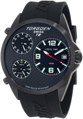 Torgoen Swiss Men's T08304 T08 Series Classic Black Aviation Watch