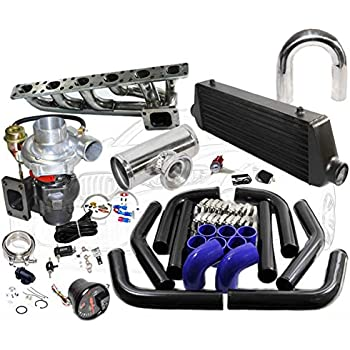 Amazon com: BMW 92-99 E36 M50 M56 T3T4  63 Turbo Kit Intercooler BOV