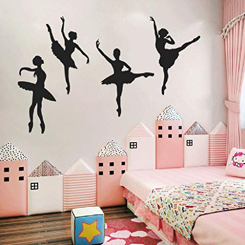 ️ Yu2d ❤️❤️ ️Creative Ballet Girl Combination Wall Stickers Children's Room Home Decoration]()