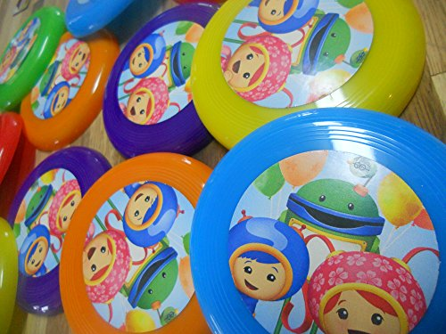 Unbranded 12 Team Umizoomi Mini frisbees, Birthday Party Favors, Goodie Bag loot GEO ()