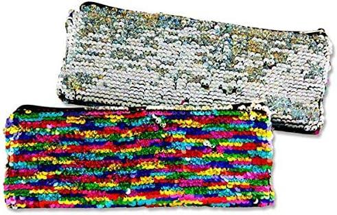 Emotionery Blingtastic - Estuche Plano con Lentejuelas, Color Plateado y arcoíris: Amazon.es: Hogar