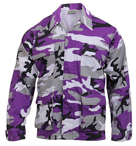 Rothco Color BDU Shirt, Ultra Violet Camo, XX-Large