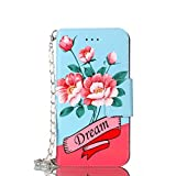 Shinyzone Samsung Galaxy S9 Plus Handbag Case,PU Leather Wallet Case with Luxury Floral Pattern for Women,Hand Strap Chain Carring Design Magnetic Flip Cover,Rose