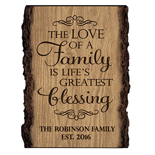 Personalized Family Gift Custom Family Name Sign Engraved with Family Name and Established Date The Love of Family is Life's Greatest Blessing By Dayspring Milestones (The Love of A Family)