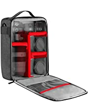 Neewer NW140S Waterproof Camera and Lens Storage Carrying Case, 8.7x5.9x12.6 inches/22x15x32 Centimeters Soft Padded Bag for Canon Nikon Sony DSLR, 4 Lens or Flash, Trigger, Battery Accessories