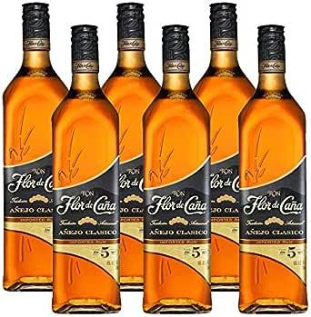 Ron Flor de Caña 5 años de 70 cl - D.O. Nicaragua - Bodegas Osborne (Pack de 6 botellas): Amazon.es: Alimentación y bebidas