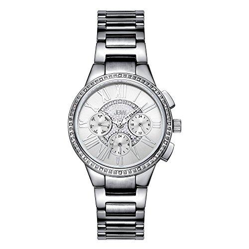 JBW Women's J6328A Helena Silver Chronograph Diamond Watch