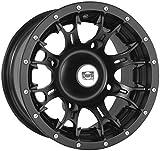 Douglas Wheel Tire 991-11B Diablo Wheel - 12x7 - 4+3 Offset - 4/110 - Black , Bolt Pattern: 4/110, Rim Offset: 4+3, Wheel Rim Size: 12x7, Color: Black, Position: Front