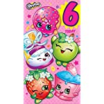 Shopkins age 6 today 6th birthday card