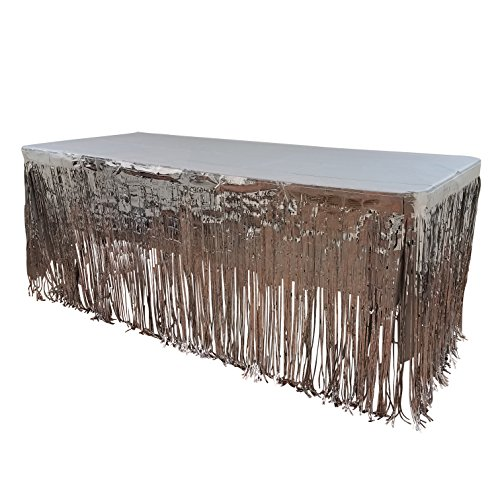 Buy foil silver plastic tablecloth