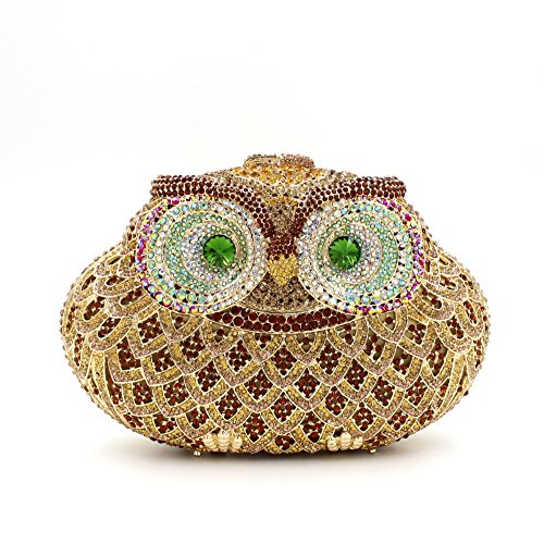 main à sac De à fête mariage de Diamant femmes d'embrayage main de préféré soirée Luxe Owl B sac sac XSq5w