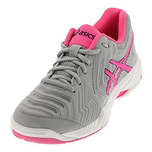 ASICS Gel-Game 6 Mid Grey/Hot Pink/White Women's Tennis Shoes